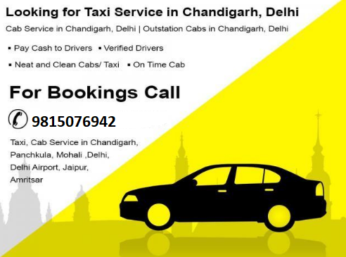 Taxi Service Chandigarh to Delhi Airport
