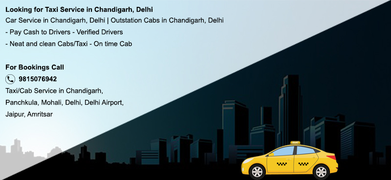 Taxi from Chandigarh to Delhi